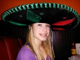 Kaitlin and the (birthday) sombrero @ La Nopolera. Happy 15th to my first born love.