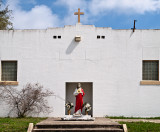 Church with red robe, Marfa, TX