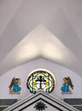 Detail above altar, Cestohowa, TX