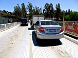 Our car on the ferry at Mannum