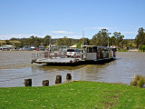 Car ferry at Mannum, crossing the Murray River