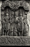 sculpture on the wall of Belur temple near Hassan.JPG