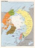arctic region; Norway & Svalbard in pink