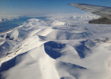 Spitsbergen sights from the plane
