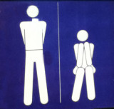 Bathroom sign at the Svalbar