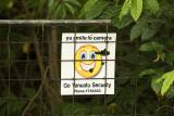 Security camera sign, Barrier Beach House,Espiritu Santo, Vanuatu