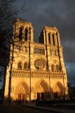 Notre Dame-sunset-Paris