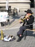 trombone player-Prague