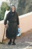 old woman-Santorini