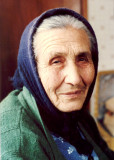 woman with blue headress-Lekani-Greece