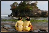 Facing Tanah Lot Temple.