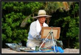 The Painter on the Beach. Kuta.