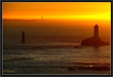 Raz de Sein. Sunset.