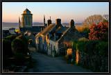 Evening light (North wind). Locronan.