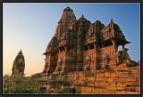 Sunset Light on Khajuraho Temples.