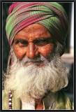 Portrait of a Muslim. Old Delhi.