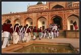 Schoolgirls Visiting Humayun's Tomb. Delhi.