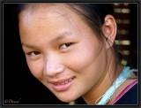 A Young Lanten Woman. Ban Nam Leu. Luang Namtha.