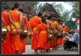Morning alms. Luang Prabang.