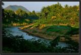 Khan River on Sunset. Luang-Prabang.