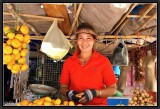 The Smile of the Fruits Vendor. Vientiane Fresh Market.