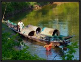 Life on a Boat. River Nam Tha. North Laos.