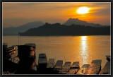 A Sunset on the Mekong. Luang Prabang.