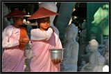 Collecting Alms. Mandalay.