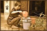 Cleaning Tea Pots.