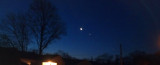 Moon and Venus on Long Island
