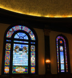 Windows at the Free Synagogue of Flushing in Queens, NYC