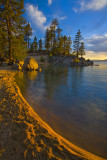 Last Light Warms Sand Harbor