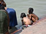 beautiful children at ganga