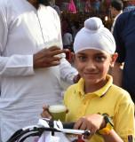 Jaipur market young Sikh boy