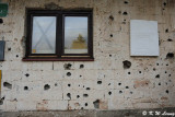 Wall with bullet and shrapnel holes DSC_6211