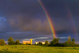 Rainbow Over Barns 34828