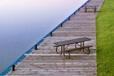 Canal Picnic Tables At Dawn 20130605