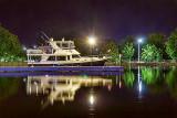 Docked Boat At Night 20130826
