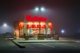 Tim Hortons On A Foggy Night 36225-6