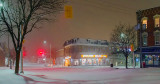 Main & Beckwith In Snowstorm 20131215