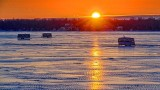 Frozen Lower Rideau Lake Sunrise 20140109