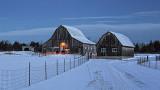 Winter Barns At Dawn 41872-3