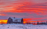 Winter Barn In Sunrise 20140204