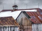 Wintry Old Barn Roofs DSCF12483.5