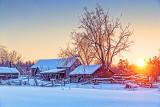 Rustic Farm In Winter Sunrise 20140210