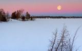 Dawn Moon Over Otter Lake 20140217