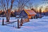 Rustic Building At Sunrise 20140226