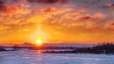 Rideau Canal Sunrise Solar Pillar 20140316