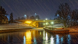 Beckwith Street Bridge On A Snowy Night 20140328