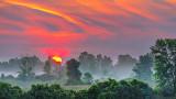 Misty Clouded Sunrise 20140810